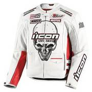 Crusager Icon Death Or Glory Jacket White Sz L