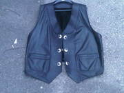 Heavy Duty Custom Leather Motorcycle Vest - 3XL